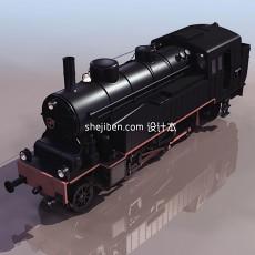 火车头3d模型下载