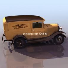 破旧汽车3d模型下载