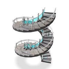 欧式圆形楼梯3d模型下载