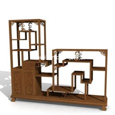 博古架-玄关厅柜装饰柜3d模型下载