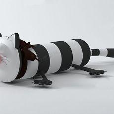 可爱抱枕枕头3d模型下载