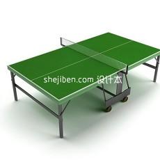 彩虹乒乓球台3d模型下载
