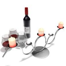 红酒烛台酒杯3d模型下载