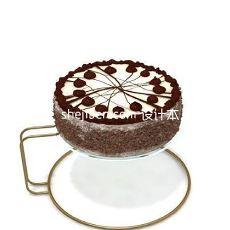 蛋糕-蛋糕托食物架3d模型下载