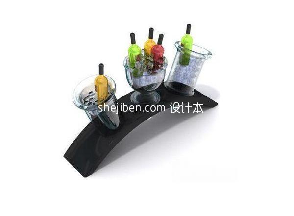 香槟酒架模型