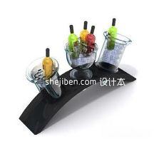 香槟酒架3d模型下载