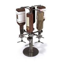 欧式酒瓶酒架3d模型下载