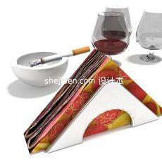 烟灰缸红酒酒杯3d模型下载
