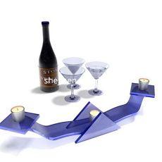 红酒杯酒瓶-烛台3d模型下载