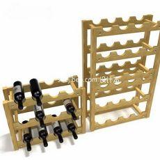 木质红酒架3d模型下载