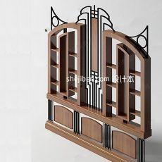 博古架展示柜3d模型下载