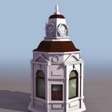 时钟塔3d模型下载