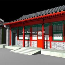 古建结构3d模型下载