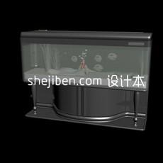 鱼缸-水族箱4套3d模型下载