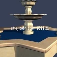 音乐喷泉3d模型下载