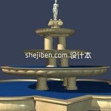 高质量喷泉3d模型下载