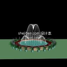 室外喷泉3d模型下载