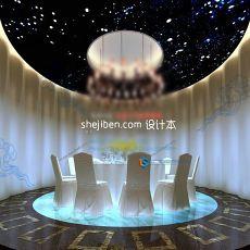 现代餐厅包厢3d模型下载