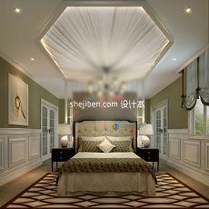 欧式卧室圆蓬吊顶3d模型下载