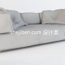 现代布艺沙发3d模型下载