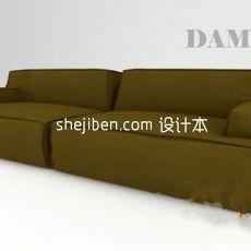 布艺沙发max3d模型下载