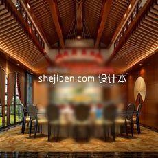 东南亚风格餐厅3d模型下载