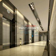 酒店过道3d模型下载