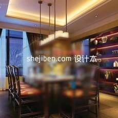 中式家庭餐厅3d模型下载