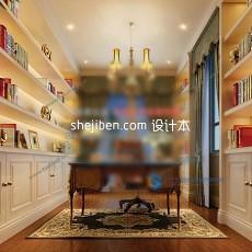 现代书房3d模型下载