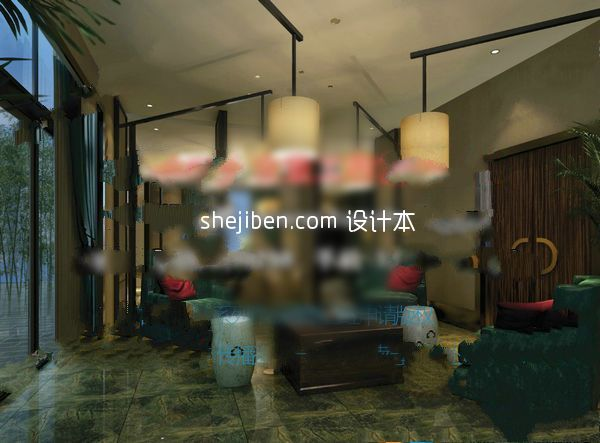 地中海家装客厅3d模型下载下载