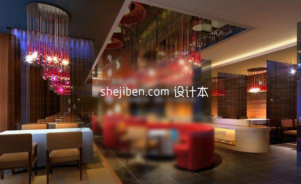东南亚餐厅3d模型下载