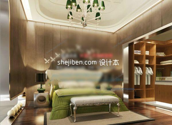 现代风格卧室3d模型下载