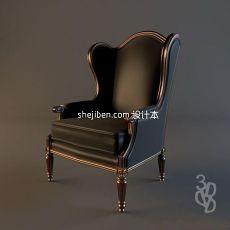 欧式真皮座椅3d模型下载