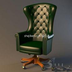 欧式老板椅子3d模型下载