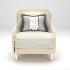 单人沙发椅3d模型下载