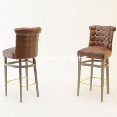 中式吧椅3d模型下载