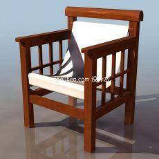 户外休闲椅3d模型下载