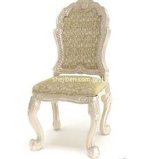 美式布艺单人沙发座椅3d模型下载
