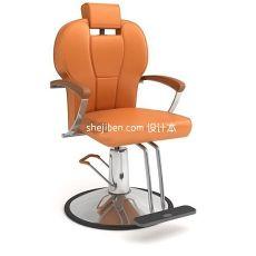美容美发扶手椅3d模型下载