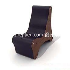 黑色实木椅3d模型下载