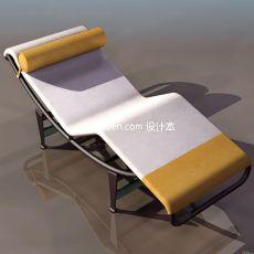 阳台躺椅3d模型下载