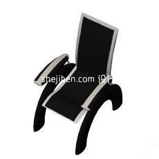花园阳台扶手休闲椅3d模型下载