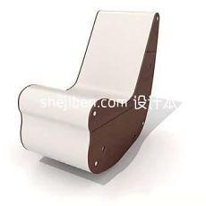 实木摇椅沙发3d模型下载