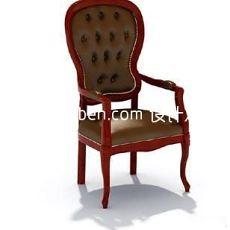 欧式家具座椅扶手3d模型下载