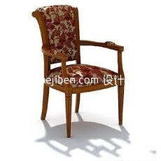 欧式扶手咖啡椅子3d模型下载
