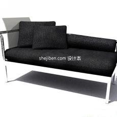 现代简约布艺沙发3d模型下载
