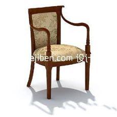 欧式红木扶手靠背座椅3d模型下载