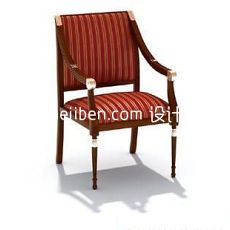 欧式家居布艺座椅3d模型下载