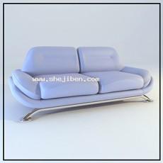 现代简约双人沙发3d模型下载