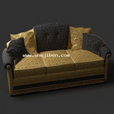 3人沙发3d模型下载